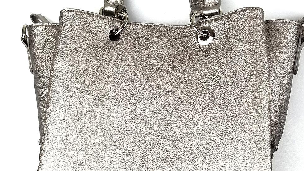 Celine Dion pewter handbag