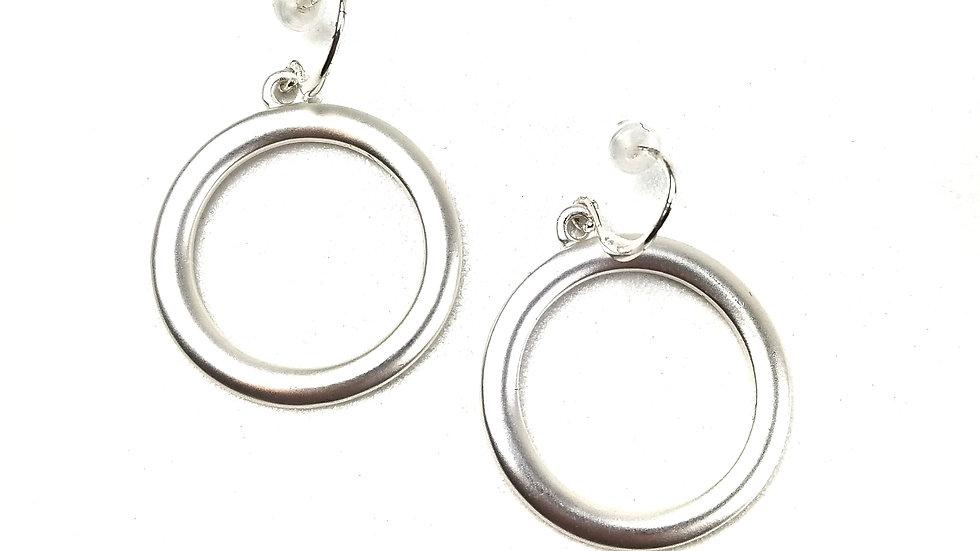 Silver hoop earrings (new)