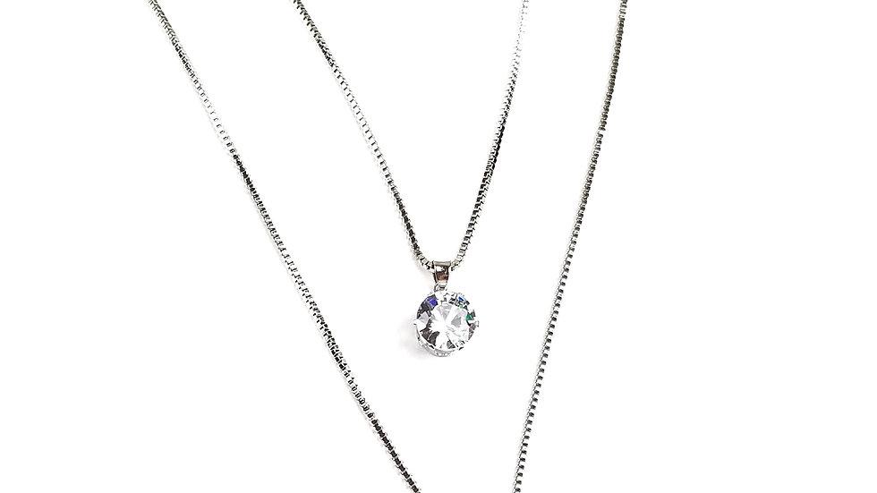 Silver Victorian necklace