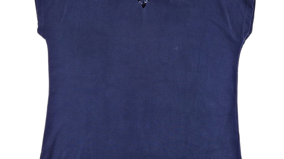 Tanjay navy stretch top size small