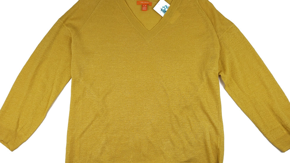 Joe Fresh yellow light weight sweater size XL