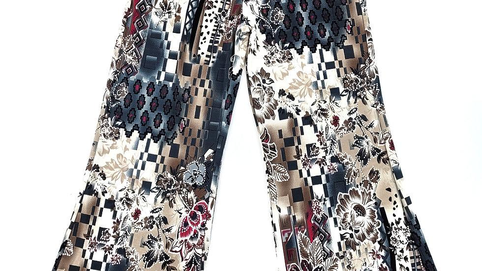 Wide Leg floral print pants size medium/large