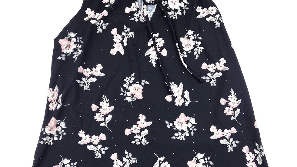 2 Die 4 black pink floral top size XL