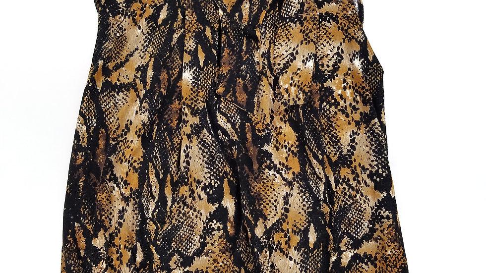 Spanner animal print blouse size medium