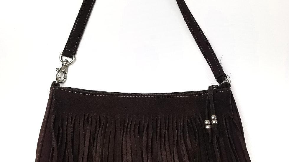 Nine West brown fringe small purse