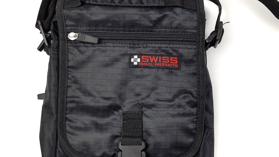 Swiss  black travel crossbody