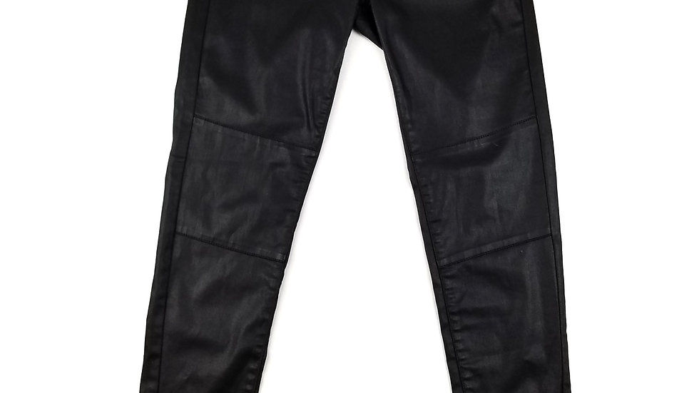 Esprit black faux leather pants size small