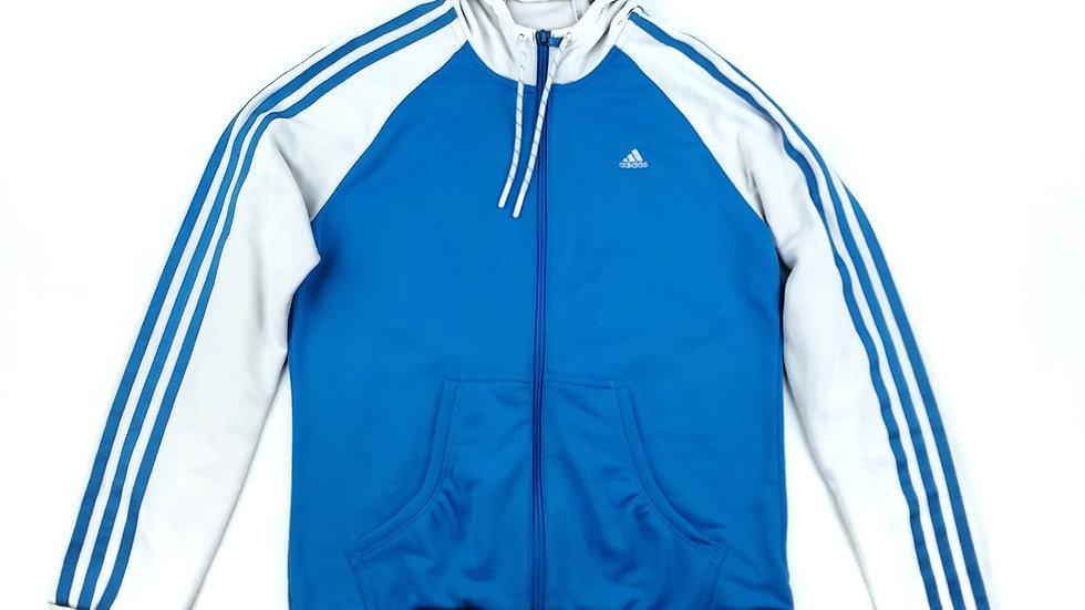Adidas blue and white zip hoodie size medium