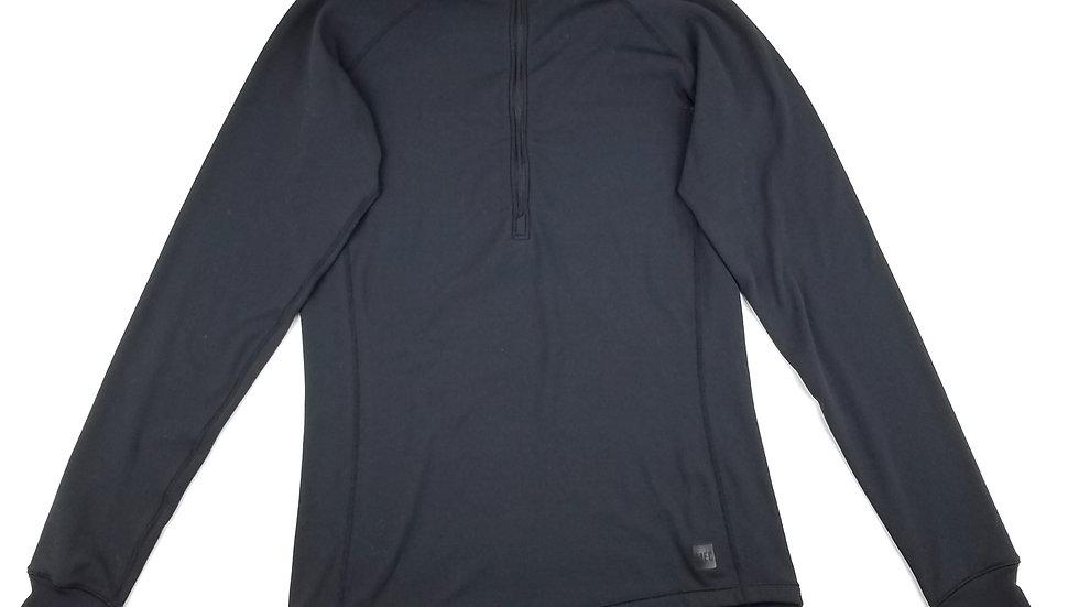 MEC black 1/4 zip athletic top size small
