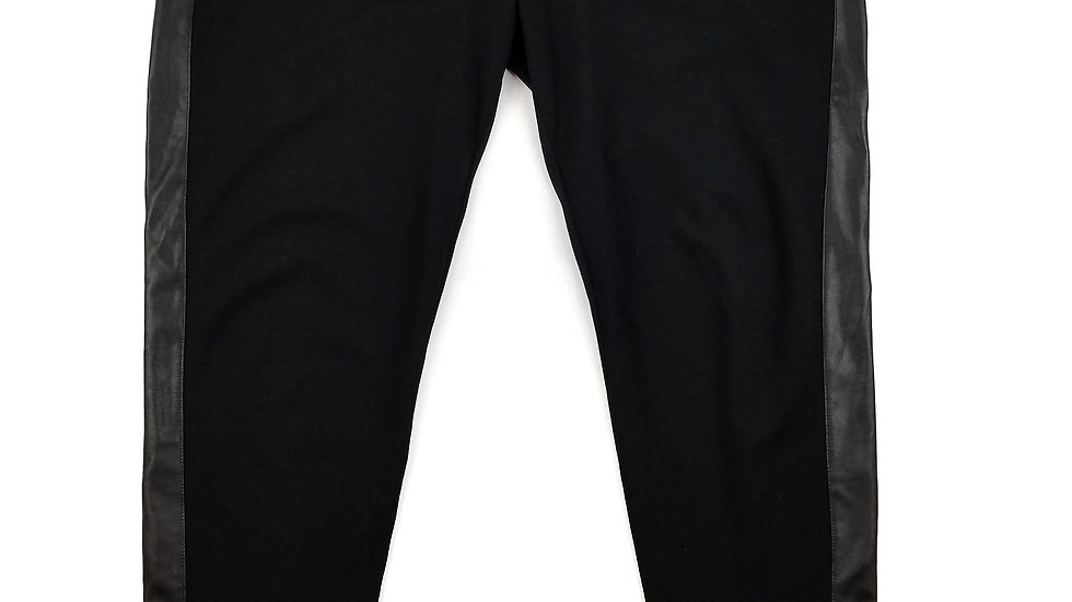 Dex black legging with faux leather sides size 3XL