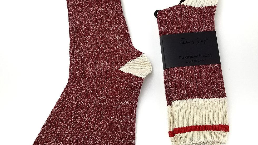 Socks burgundy work OS