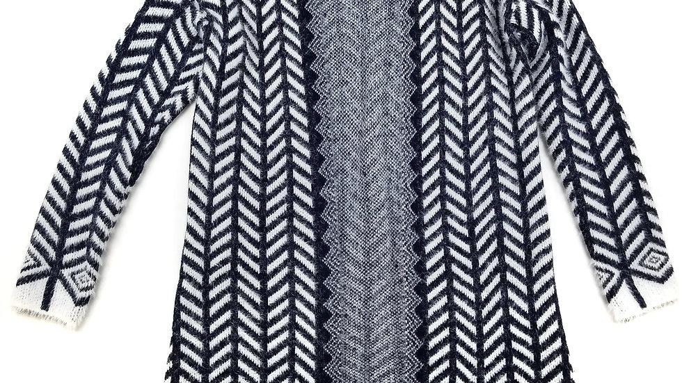 Hollywood Styles navy/white cardigan size L/XL