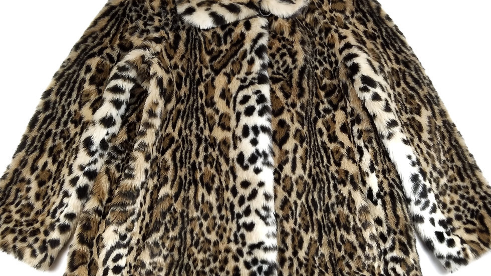 Gallery faux fur animal print jacket size small