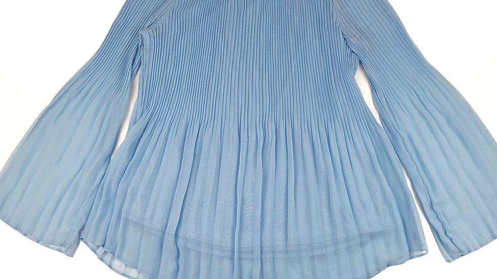 Nygard powder blue blouse size large