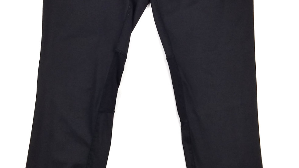 Hyba black legging with pink zippers size med