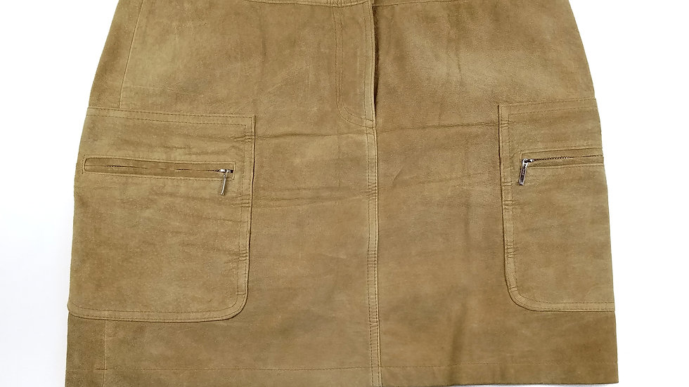Deane White suede skirt size 6