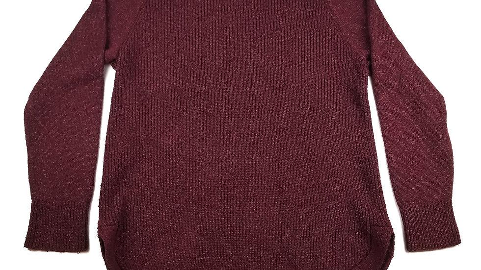 Hilary Radley burgundy knit turtle neck sweater size large