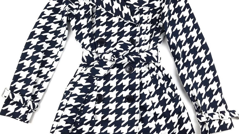 Vertigo Paris houndstooth trench coat size medium