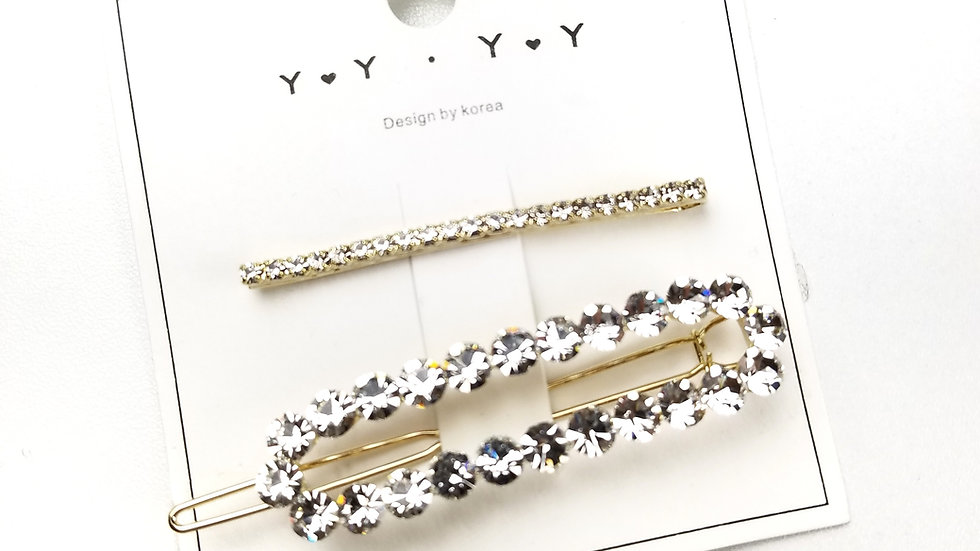 Fashion hair accessory gold with rhinestone
