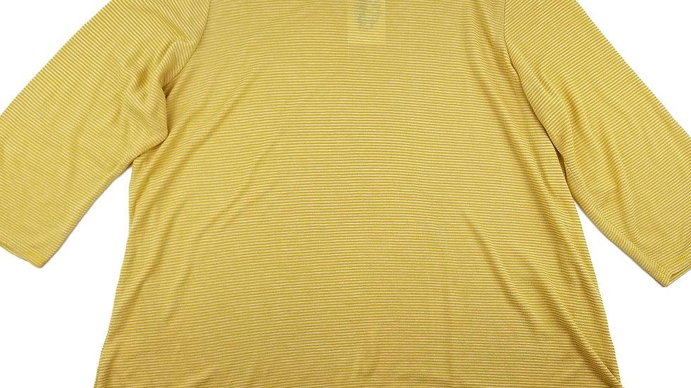 DC Jeans yellow striped top size 2-3XL