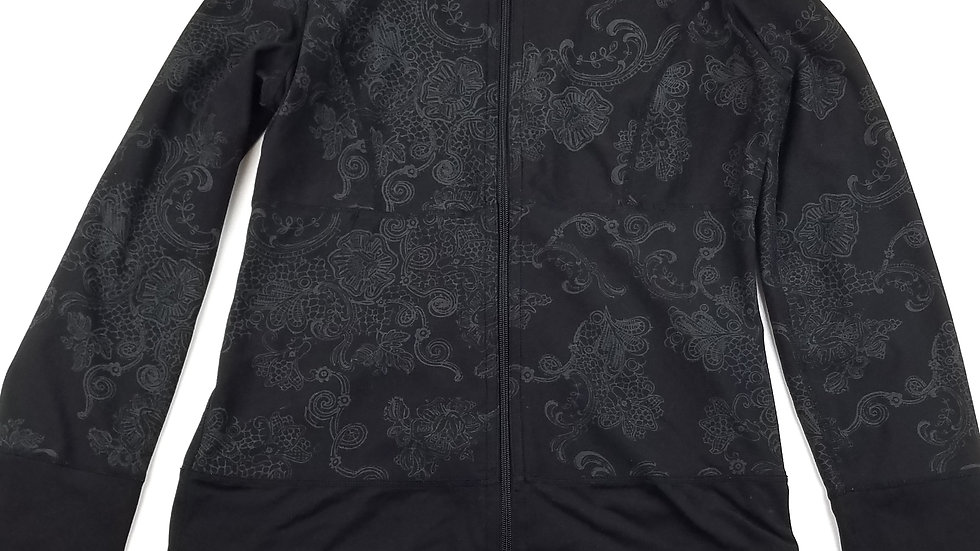 Black with grey pattern reversible jacket size small