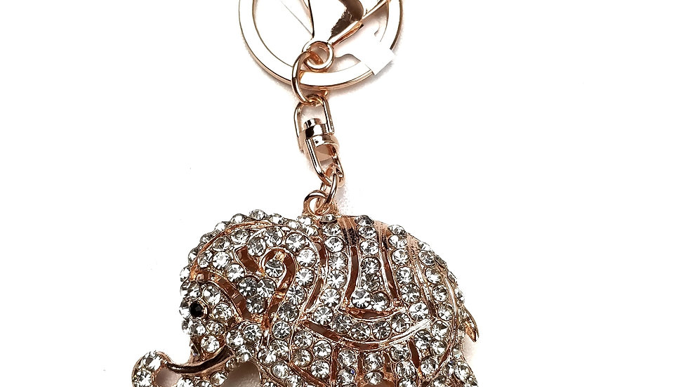 Elephant bling key ring