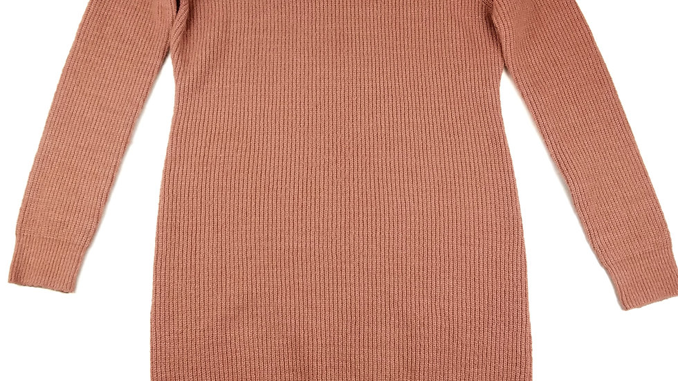 Bluenotes pink sweater cold shoulder size XL