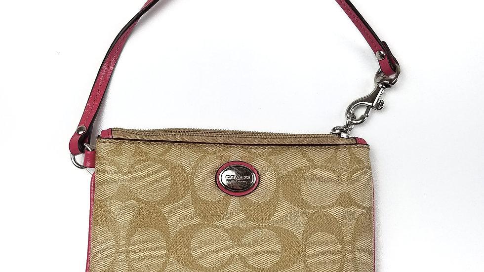 Coach wallet/wristlet pink trim