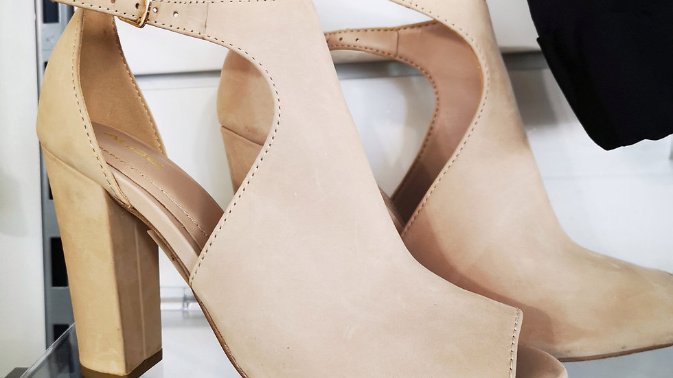 Also nude chunky heels size 6.5
