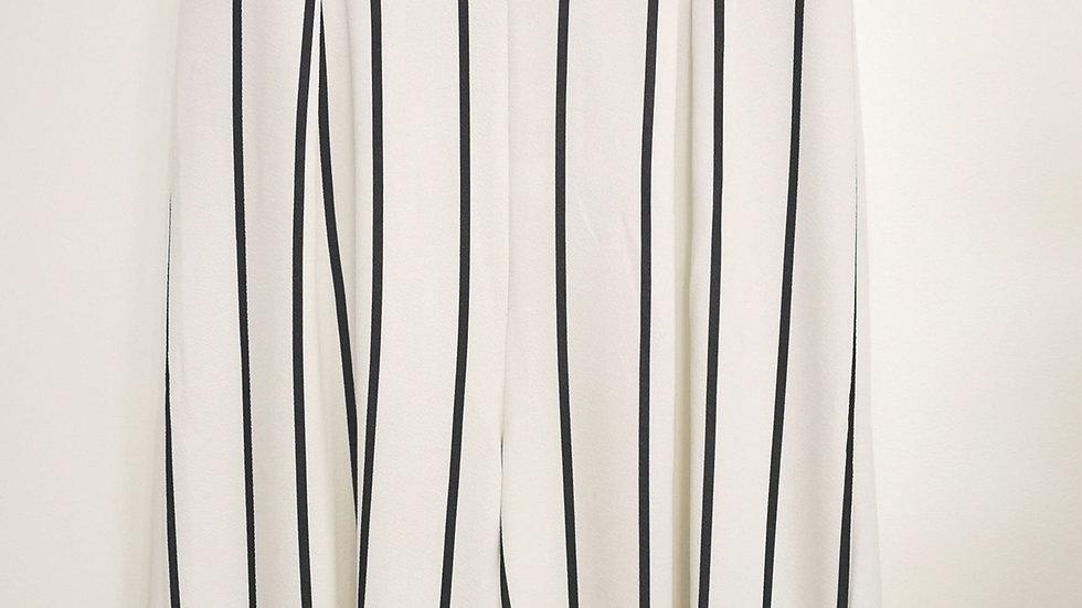 Venus white jumpsuit with Blk stripes size XL