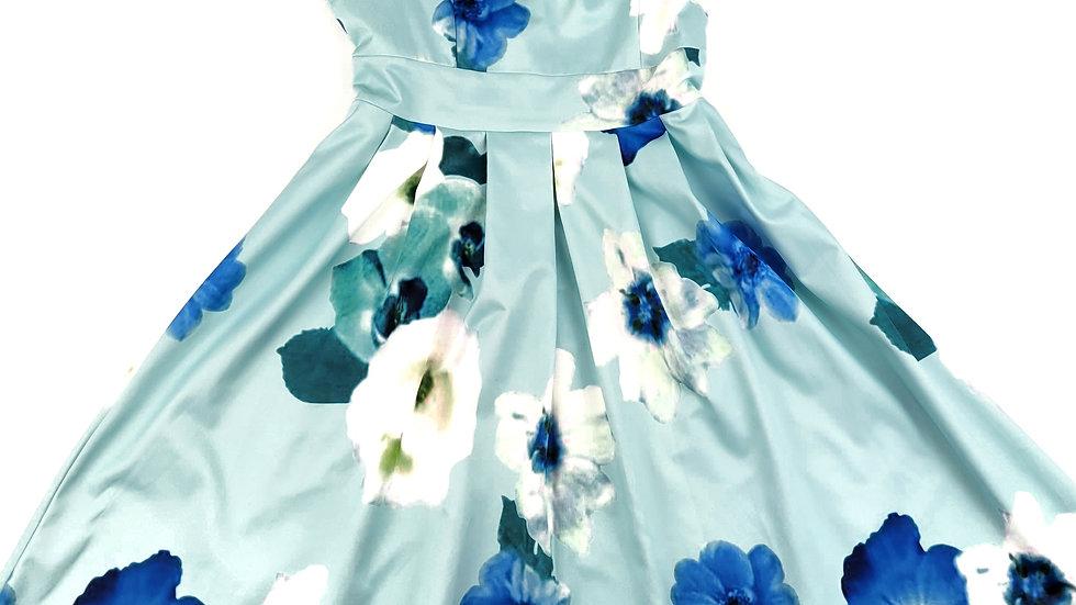 Blue floral spring dress size medium