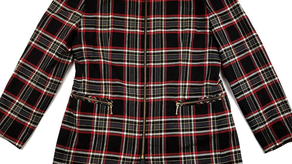 Aljean plaid zip jacket size 12