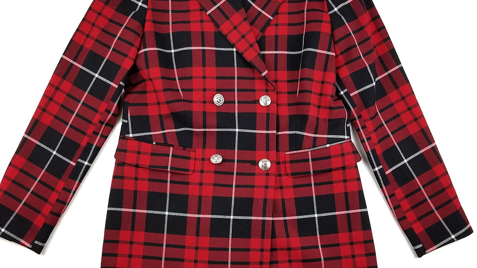 Peter Nygard red plaid jacket size 10