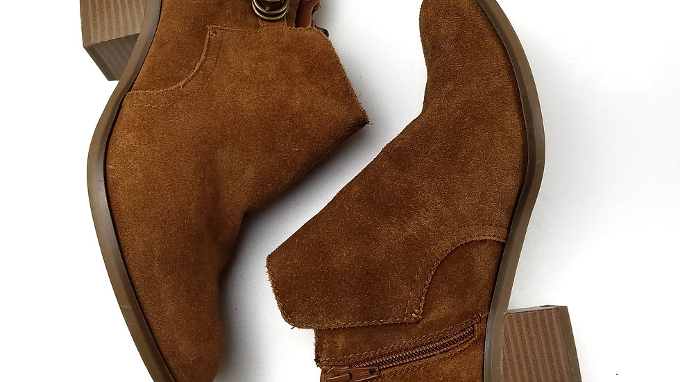Sonoma brown suede ankle boots size 9.5