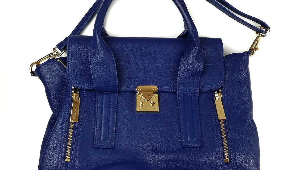 Danier blue leather handbag