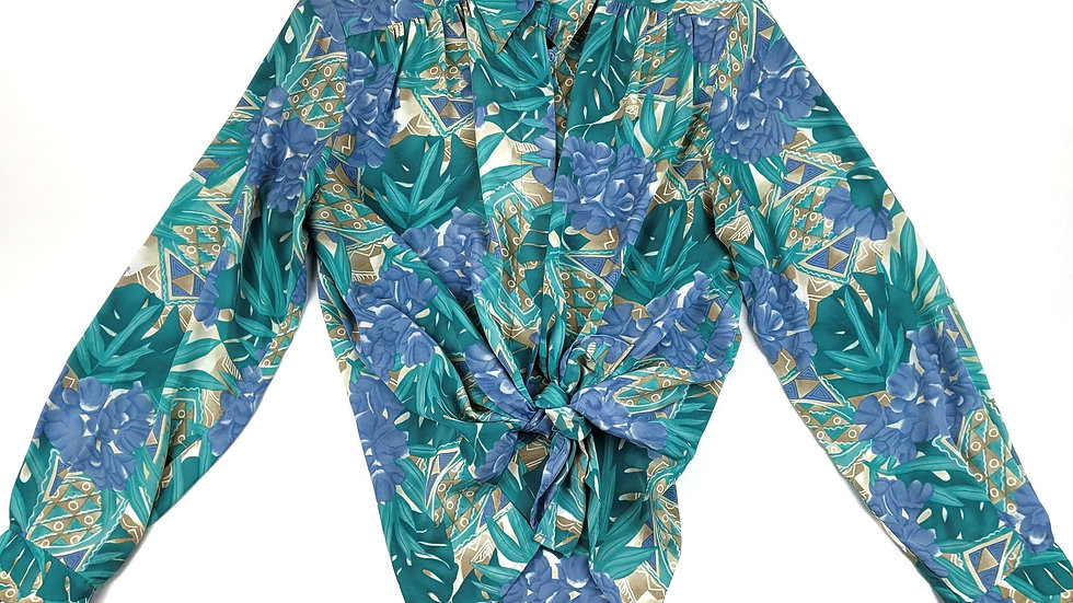 Alfred Dunner vintage tropical blouse size 8