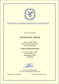 Arvay EurProBiol Certificate KLEIN JPG.j
