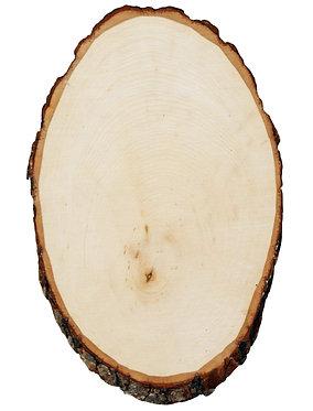 Custom Engraved Basswood Round (Large)