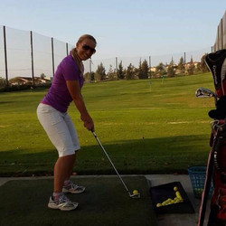 Facebook - Great time on the practice green and golf course for my very first go