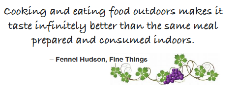 eating outside quote, grapes