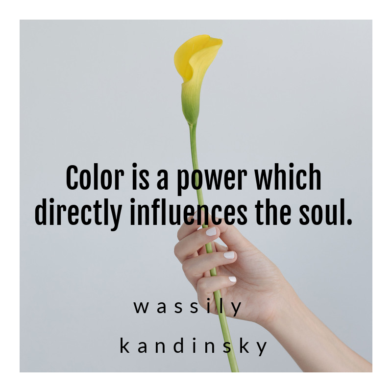 color quote, yellow flower