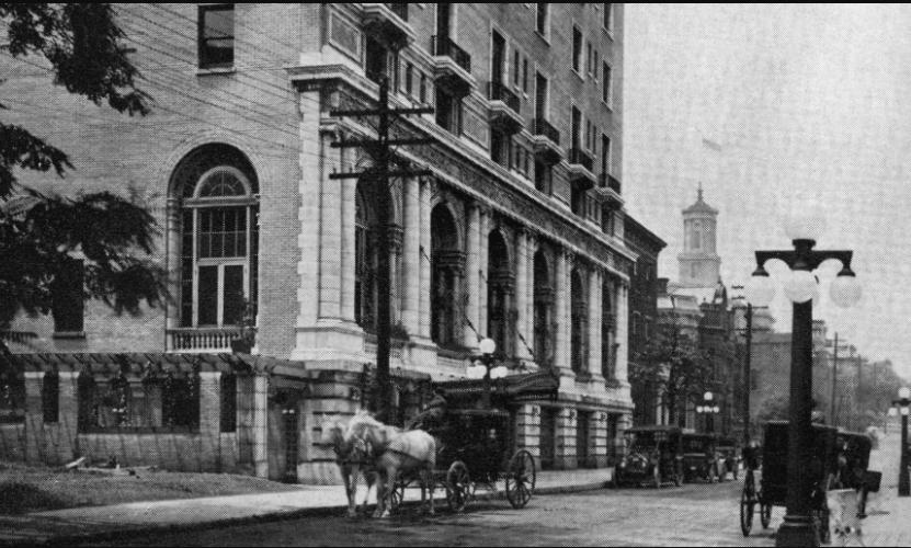 historic hotel, nashville tn, arched windows, columns
