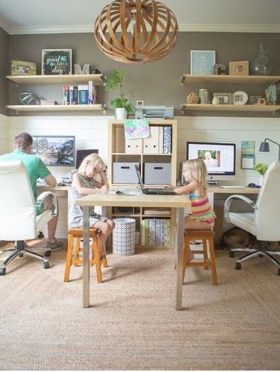 how to interior design your office, family office space