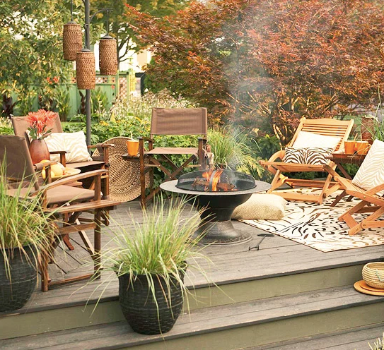 outdoor fall decor, fall outdoor eating