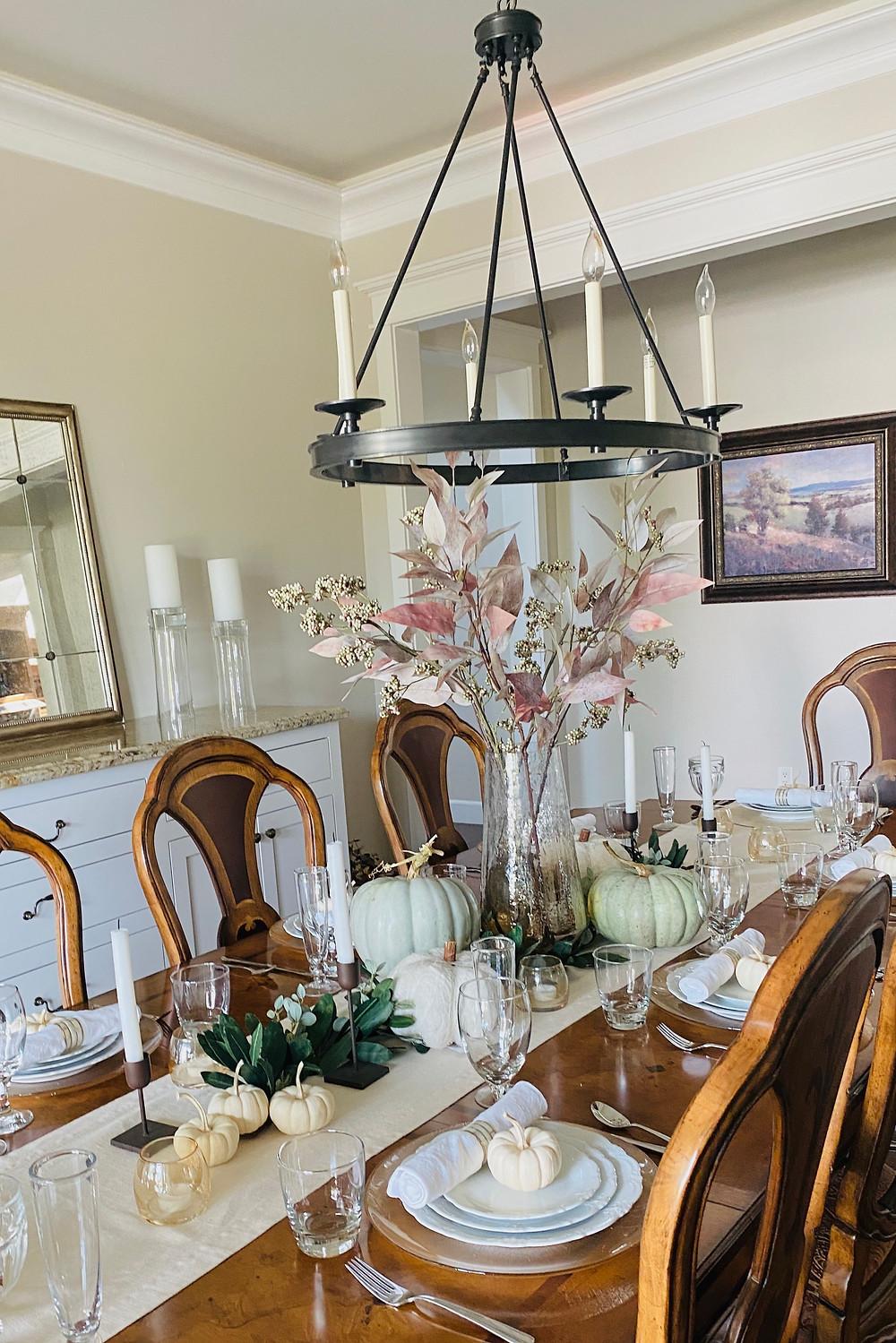 fall tablescape, fall table decor