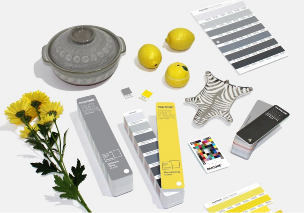 Illuminating Yellow, Ultimate Gray, color of the year