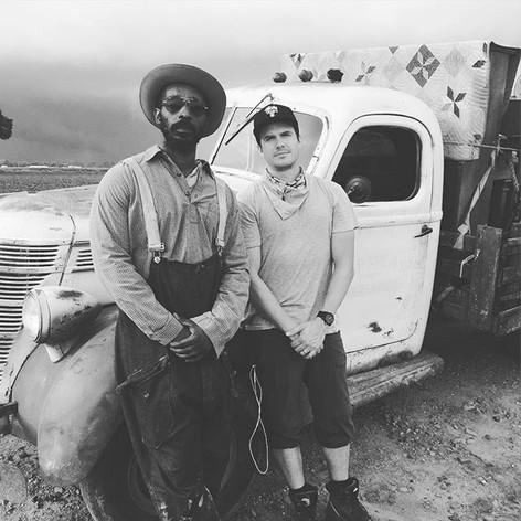 Between takes with future Oscar winner _shadowflack #mudbound
