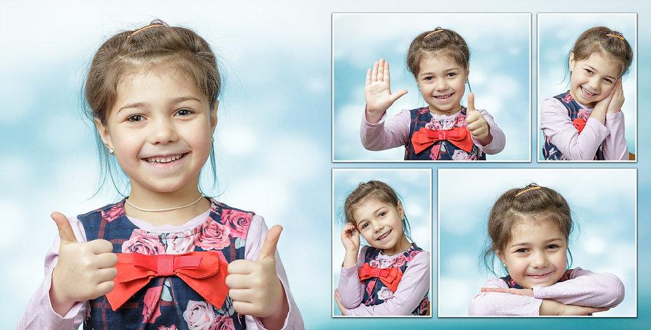 Фотосъёмка Один день в детском саду начинается с портретной фотосессии каждого ребенка прямо в группе.