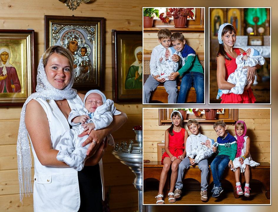 Покрестили ребенка в храме во имя преподобного Серафима Саровского