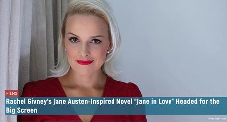 """Rachel Givney's Jane Austen inspired novel """"Jane in Love' headed for the big screen."""